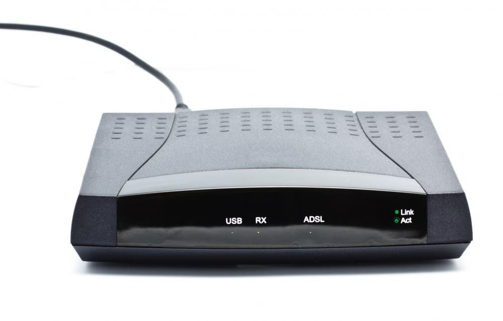 An ADSL modem, one of the ways to connect to the Internet.