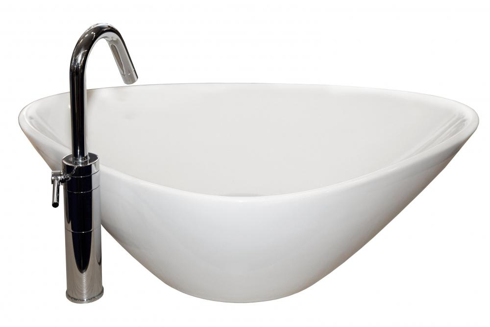 A Raised Sink Can Be Made Of Ceramic.