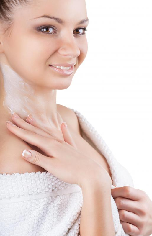 Moisturizing lotion should be applied regularly to maintain healthy skin.