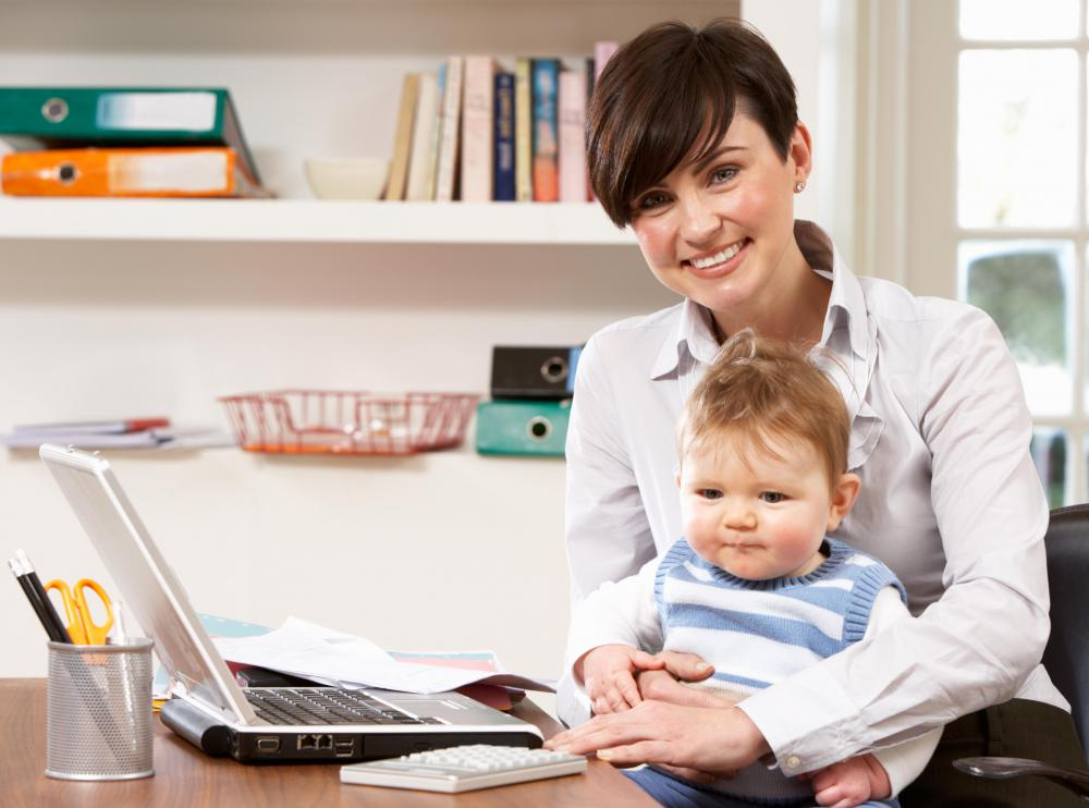 Online workplaces might be ideal for new parents.
