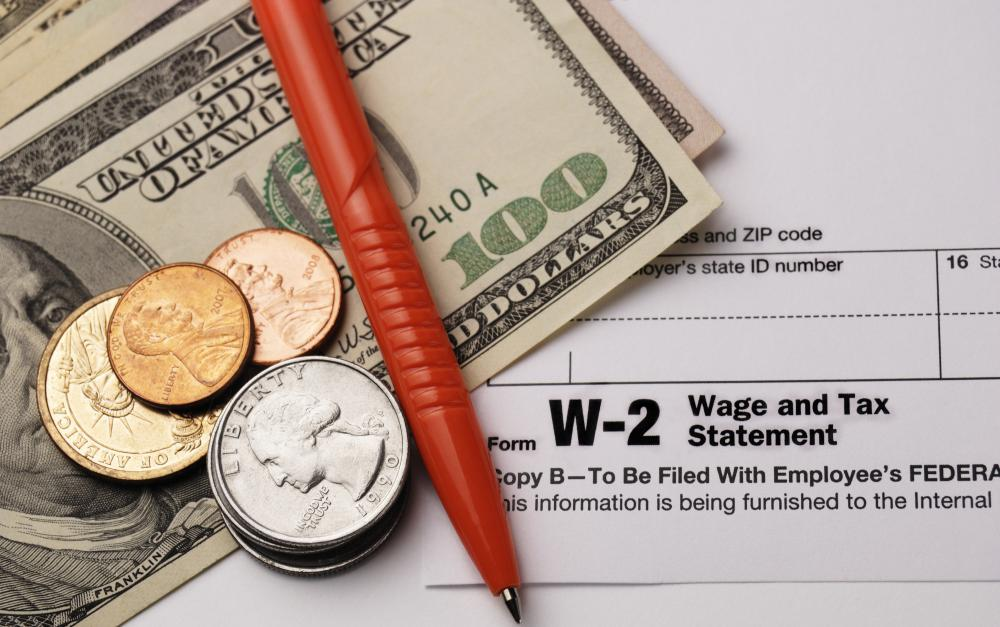A W-2 form indicates the amount of money that an employee earned and the dollar amount of taxes withheld.