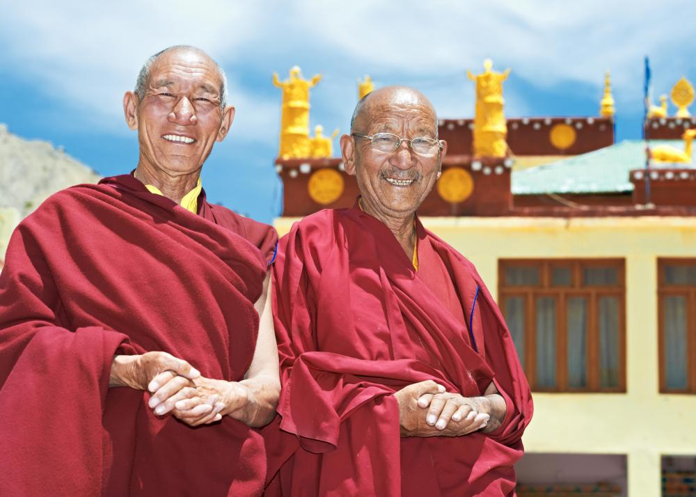 Monks devote years to learning the philosophies of Buddhism.