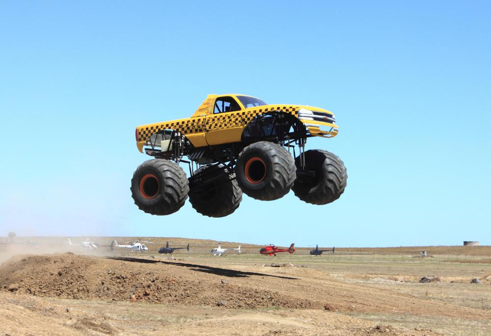 Monster trucks are an extreme example of the use of lift kits.