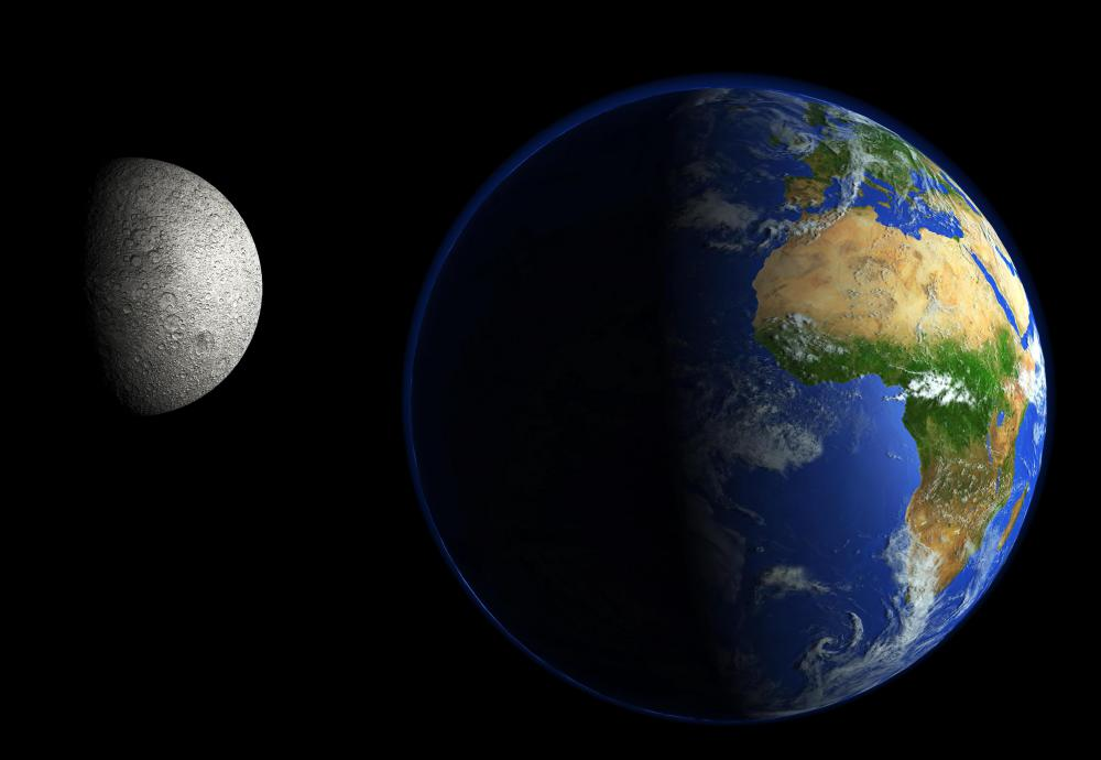 Astronomy includes the study of Earth and its moon.