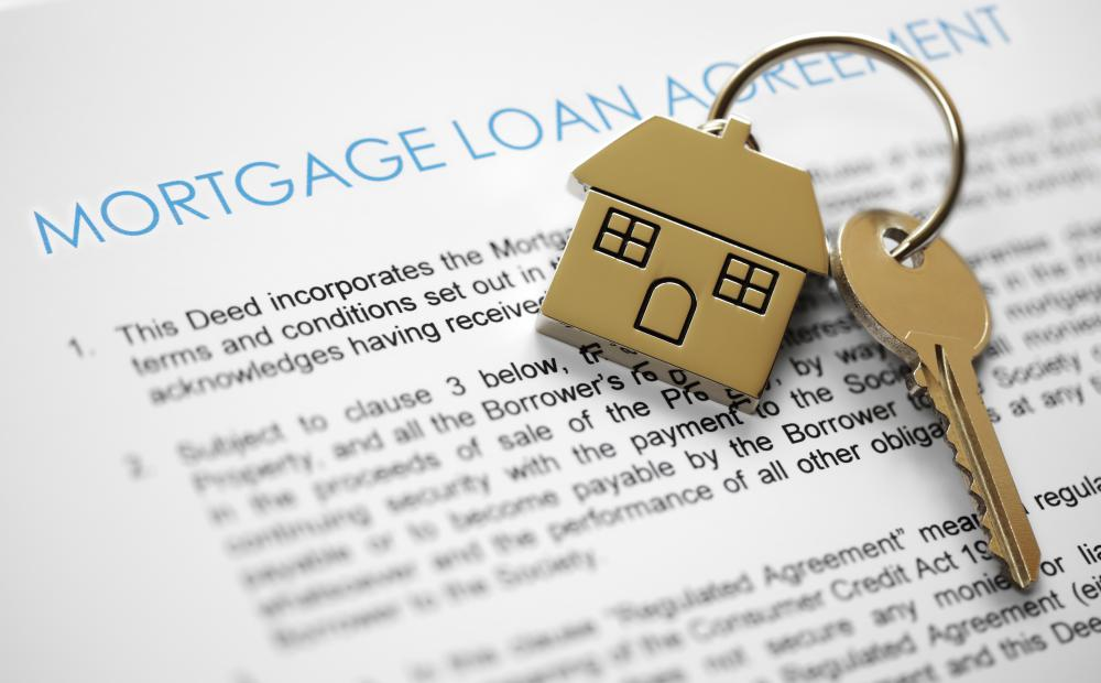 Third parties purchase groups of residential mortgages and use them to back investments.