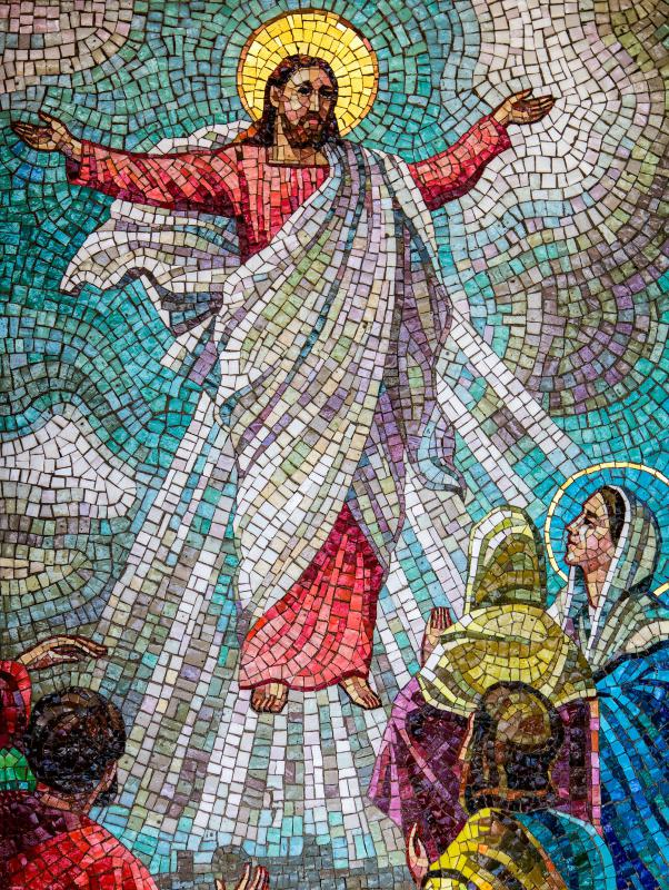 Mosaic art is popular in churches.