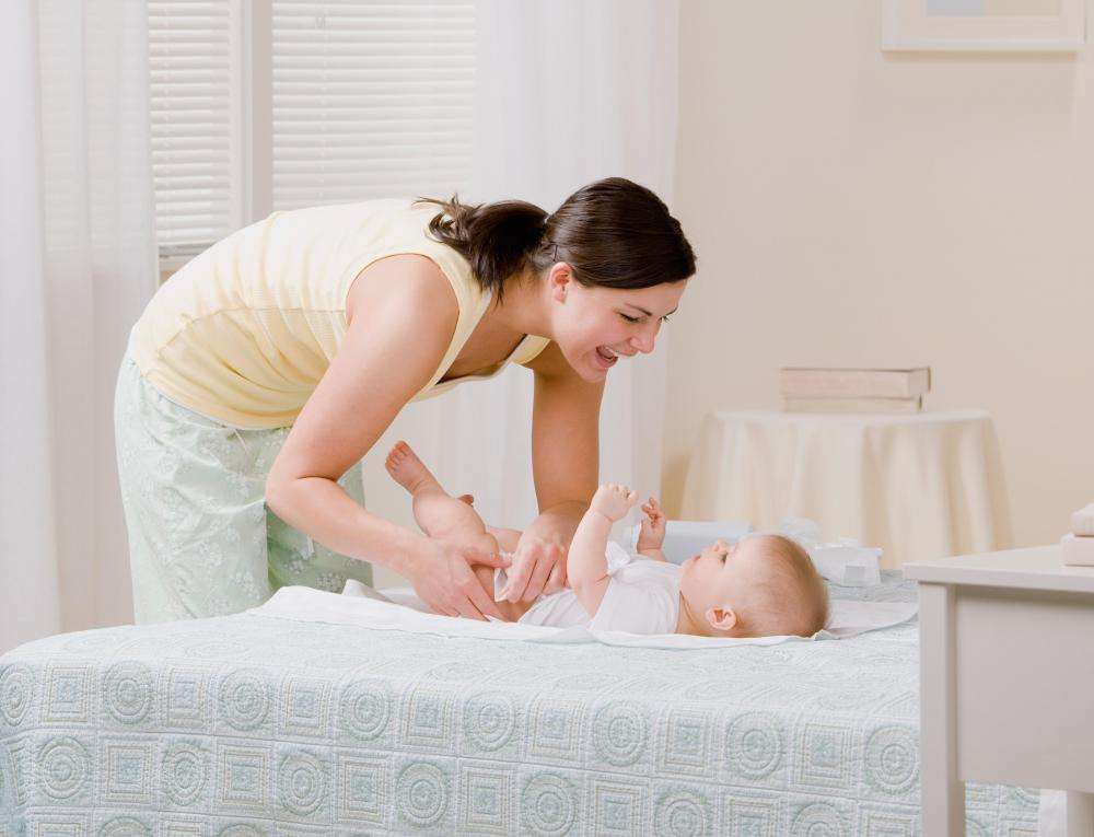 Hands should be washed after changing a baby's diaper.