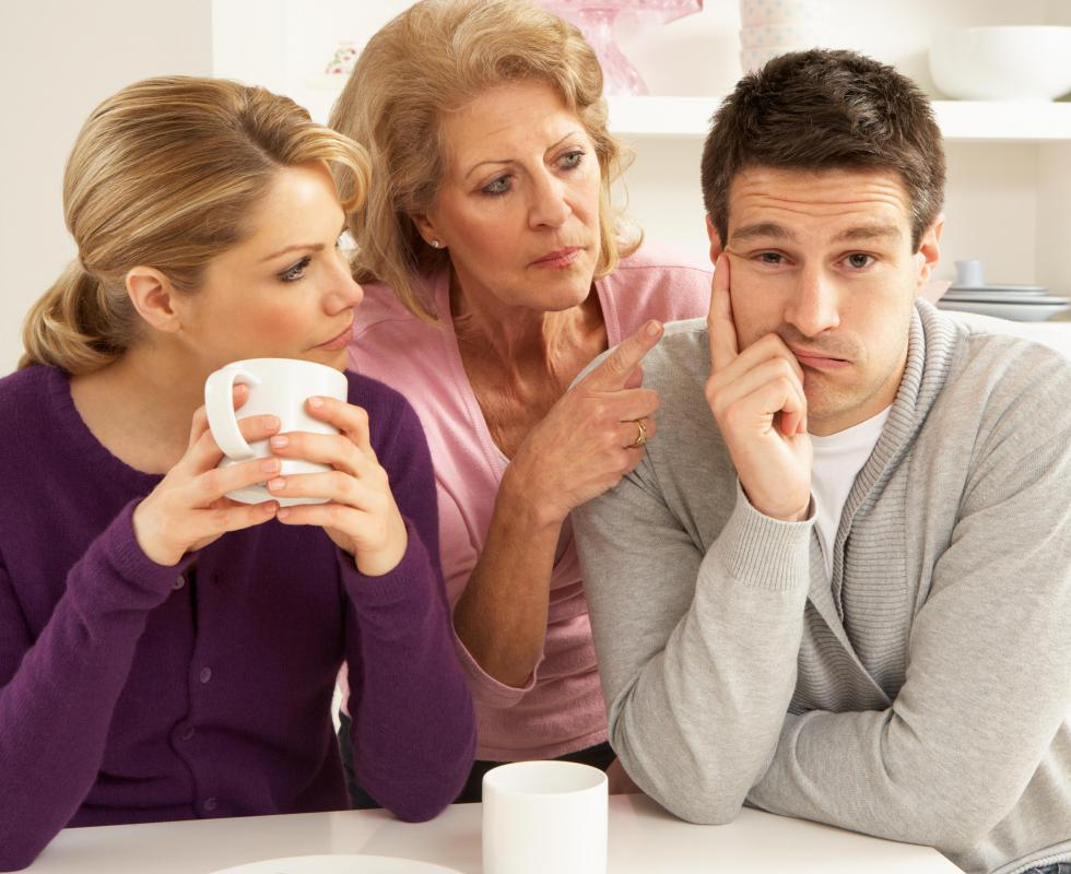 It is not unusual for elderly parents to live with their married children during the later years of the parents' lives.