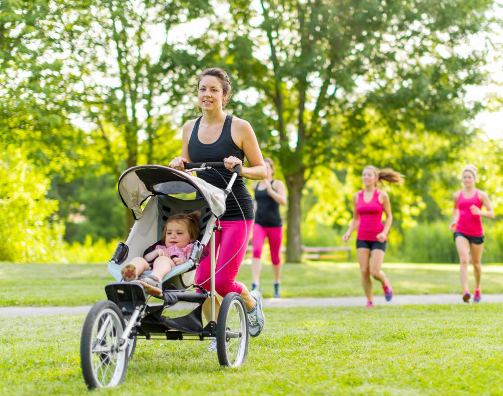 Jogging strollers are excellent for jogging or walking, but they are not very compact.