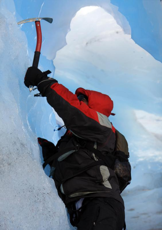 Mountain climbers often use ice axes for vertical climbing.
