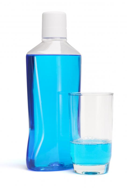 Mouthwash, which can help with bad breath.