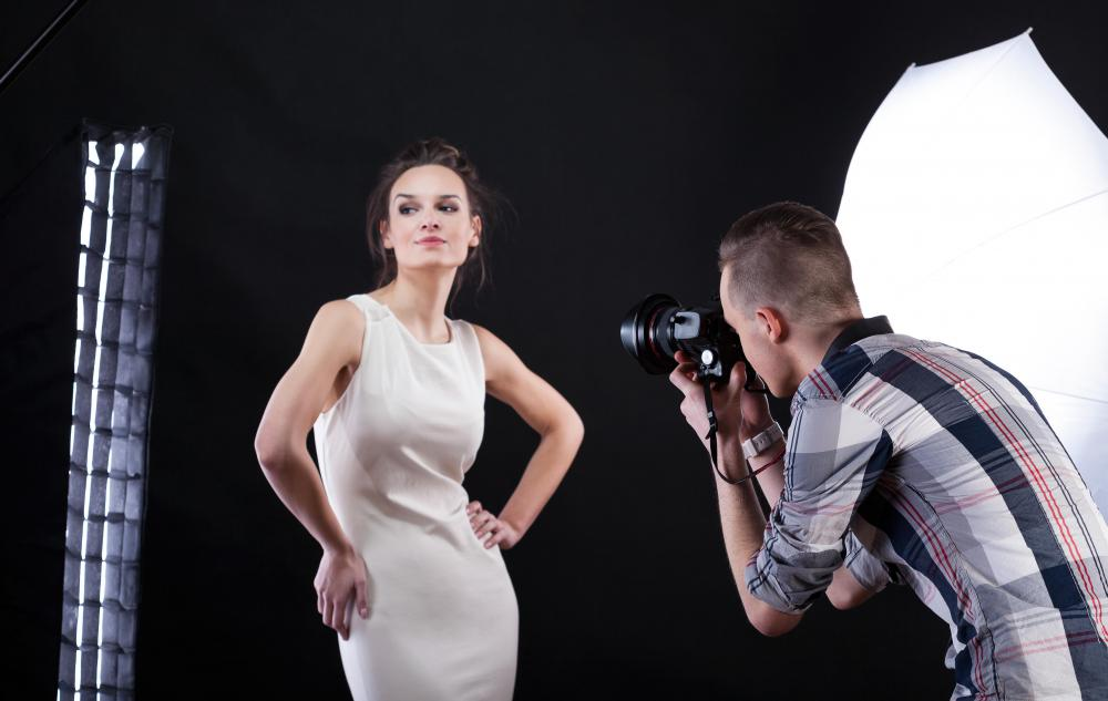 Fashion advertising photographers take the photos used in ads and marketing materials for clothing makers.