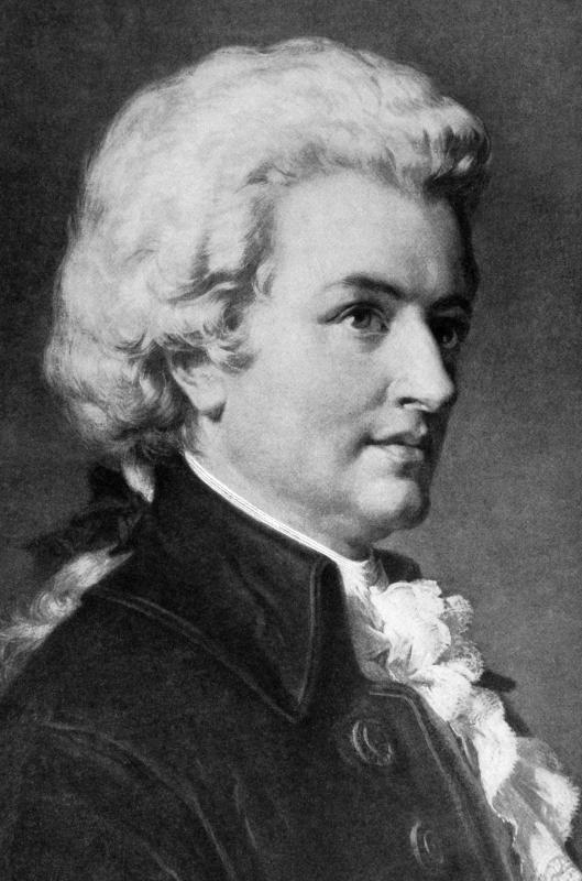 His orchestras brought fame to classical music composer Mozart.