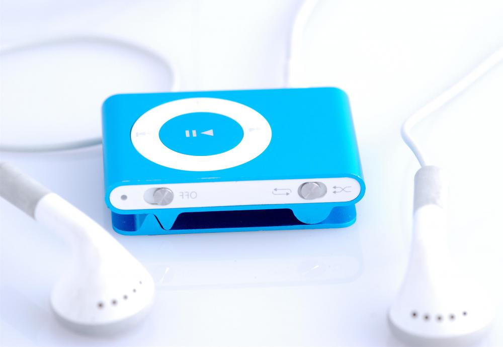 MP3 players may be charged at a power charging station.