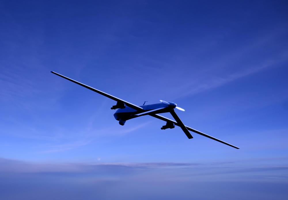 The MQ-1 Predator drone, a remotely controlled military aircraft, uses radio frequency to operate.