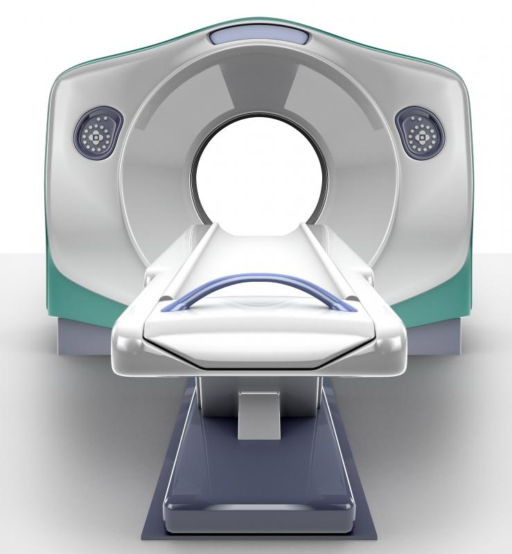 An MRI machine uses radiation to diagnose illness or injury.