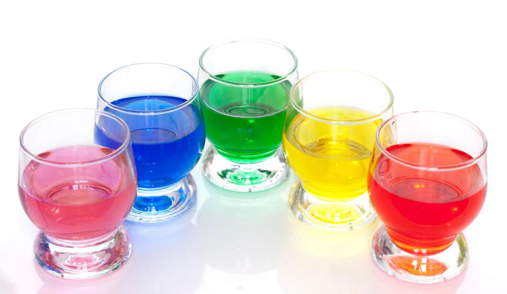 Food coloring and vinegar are used in dyeing eggs.