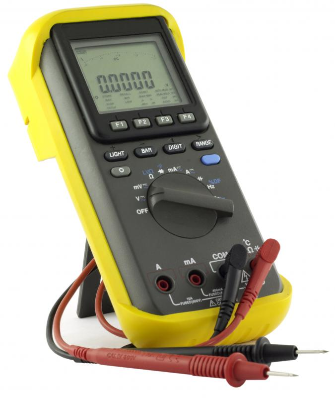 A multimeter, which can be used to measure ohms.