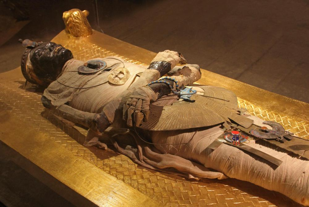 "The word ""mummy"" is derived from the Arabic word for bitumen."