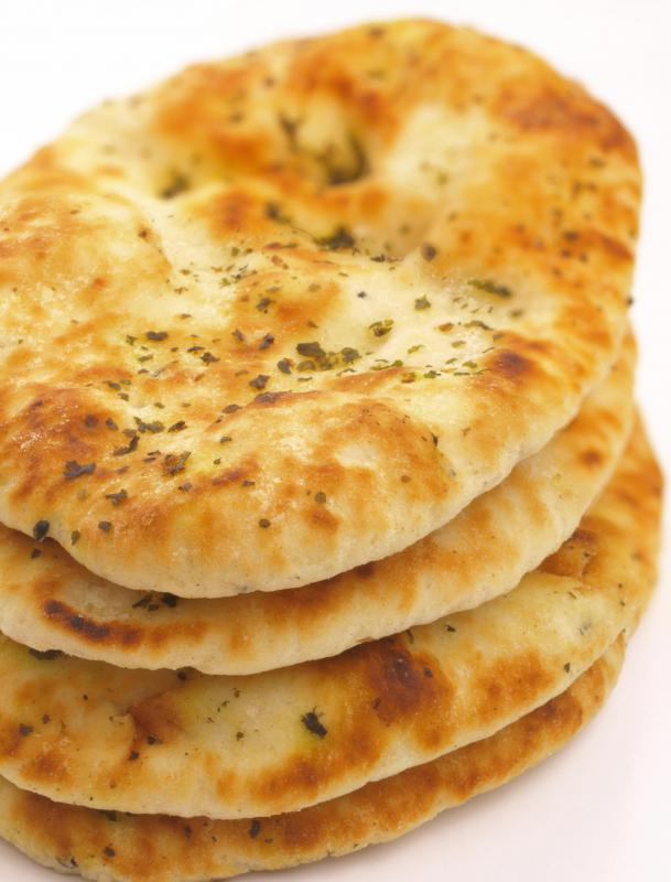 Naan is generally made with wheat flour.