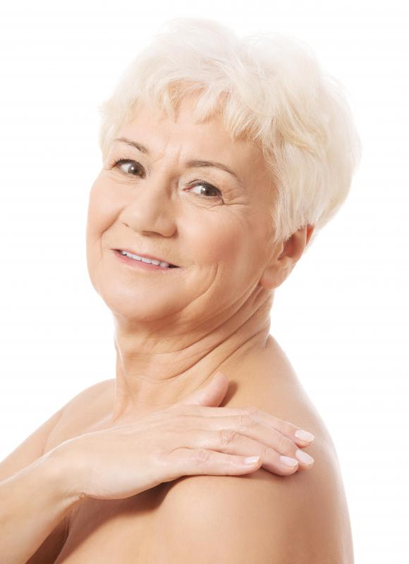 A non-surgical neck lift can be used to tighten the skin around the jawline.