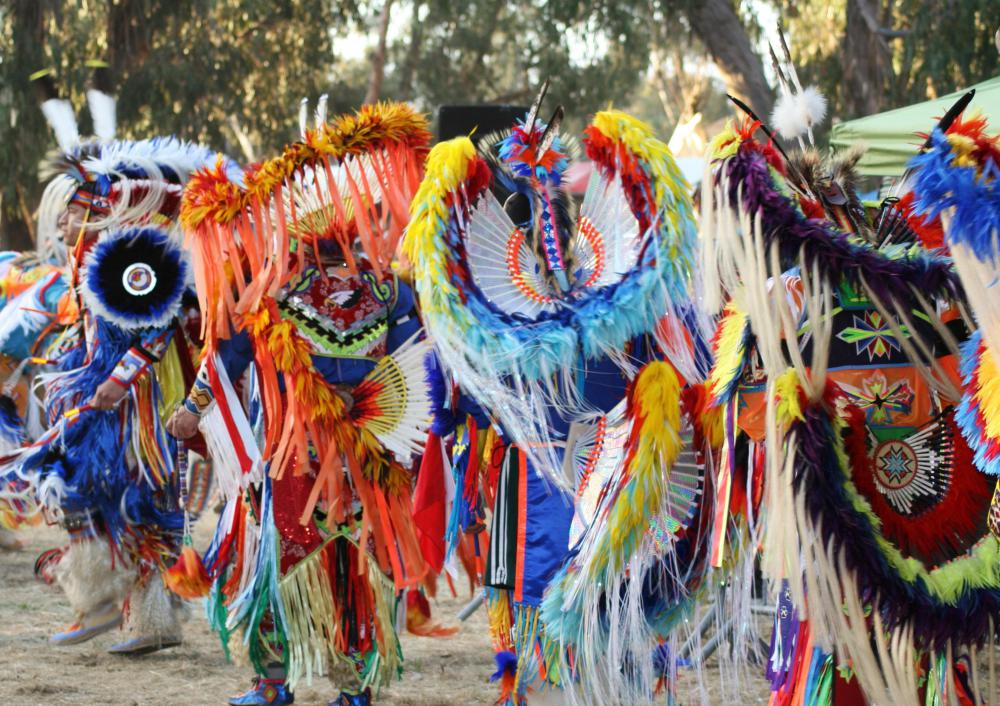 Native American art can be seen in the form of garments created for celebrations.