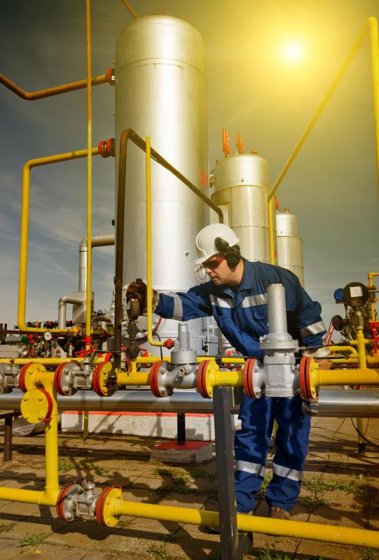 Natural gas plants are made up of an interconnected system of wells and processing chambers that treat and process the gas.
