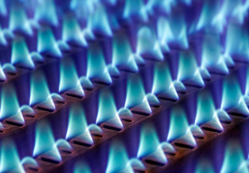 Many homes are heated using a natural gas heater.
