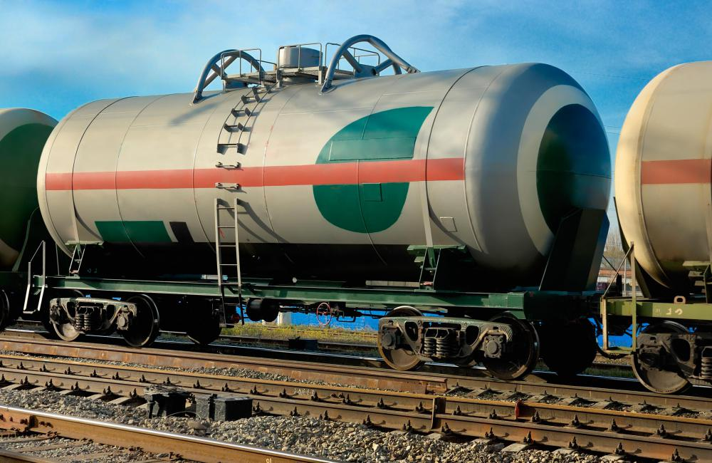 Railroad rolling stock, such as the tank cars that are used to transport liquefied natural gas, are one type of heavy equipment.