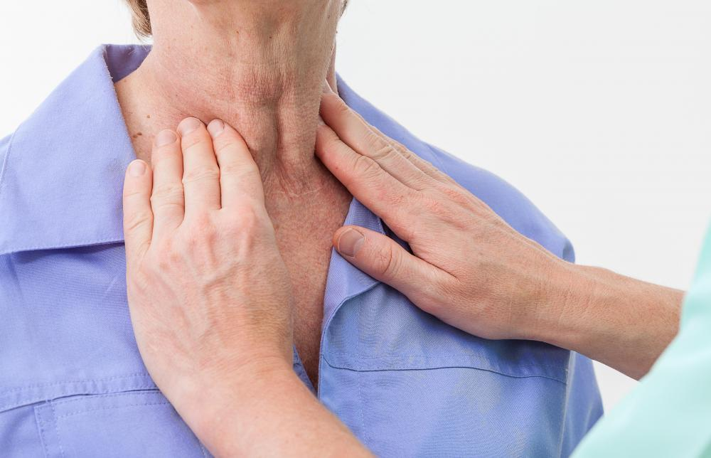 Thyroid conditions and swollen lymph nodes can cause frontal neck pain.