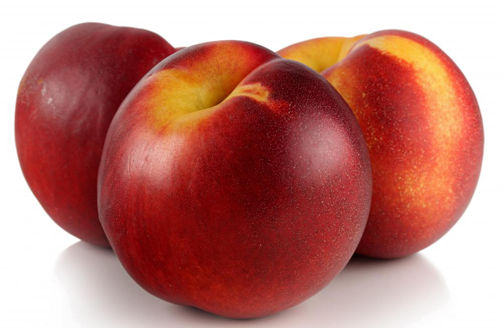 Nectarines are a good source of vitamin C.