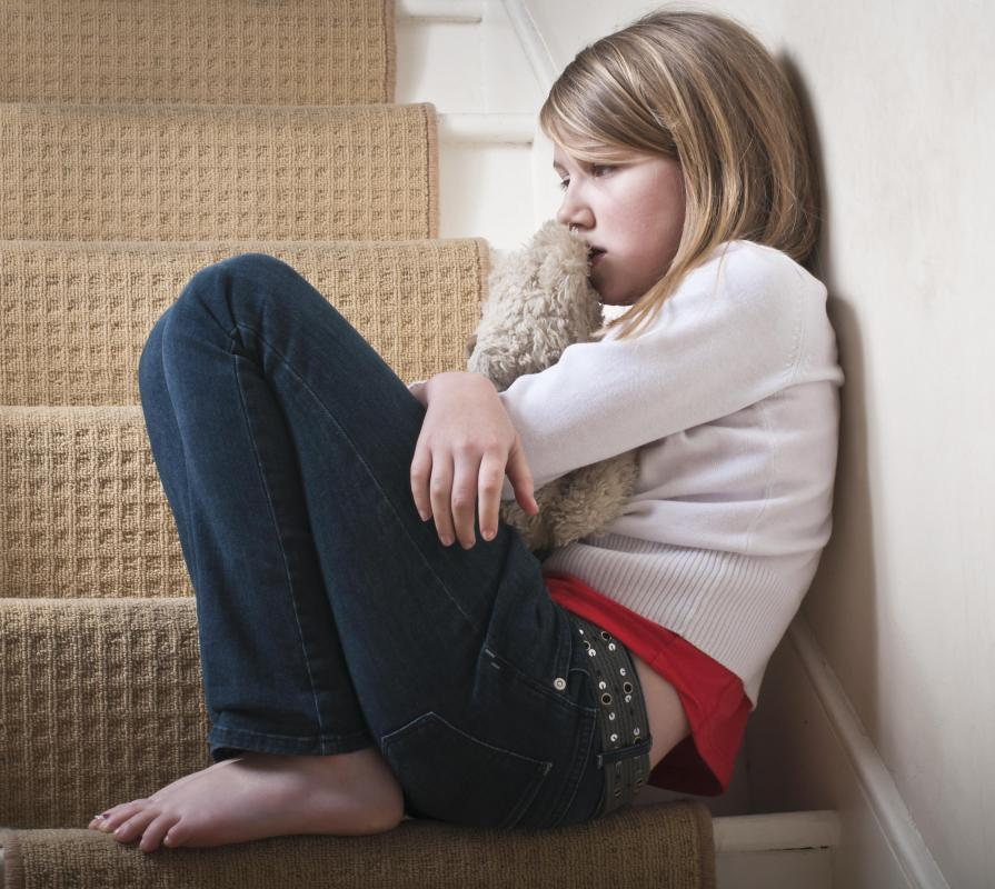 Problems at home with parents often contribute to child suicide.