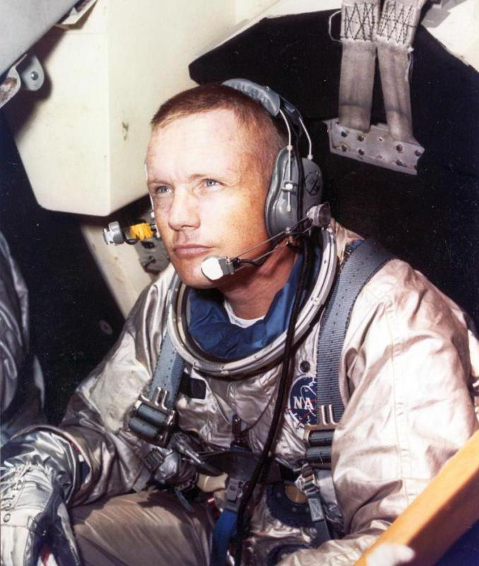 Neil Armstrong, who commanded Apollo 11 was the first astronaut to step foot on the moon.