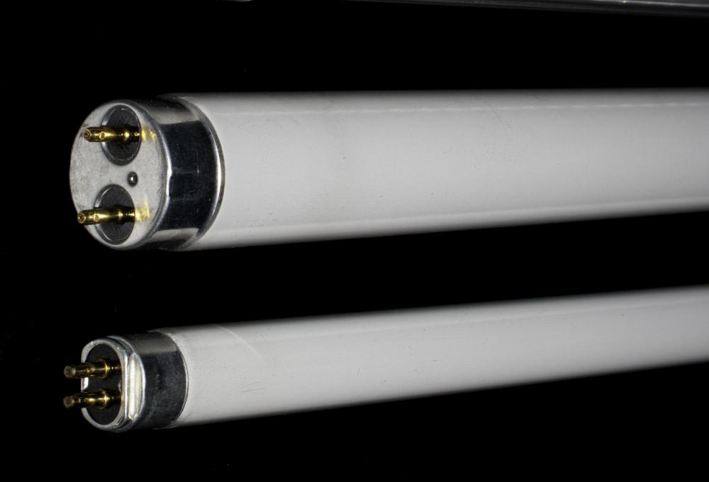 Fluorescent tubes provide an inexpensive way to light a workshop.