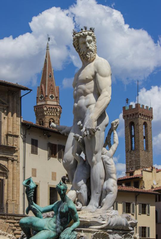 Neptune was often used to represent the sea in Greco-Roman myth.