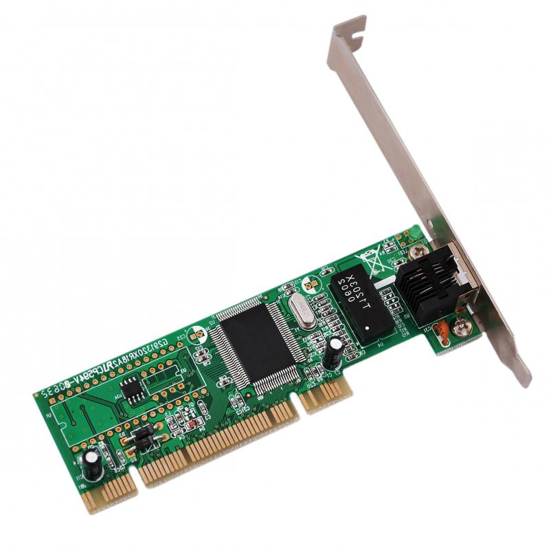 A network interface card (NIC), which connects to a network cable.