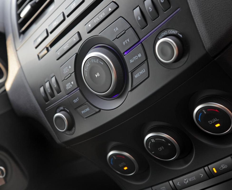 A car stereo system may be purchased from an automobile accessories company.