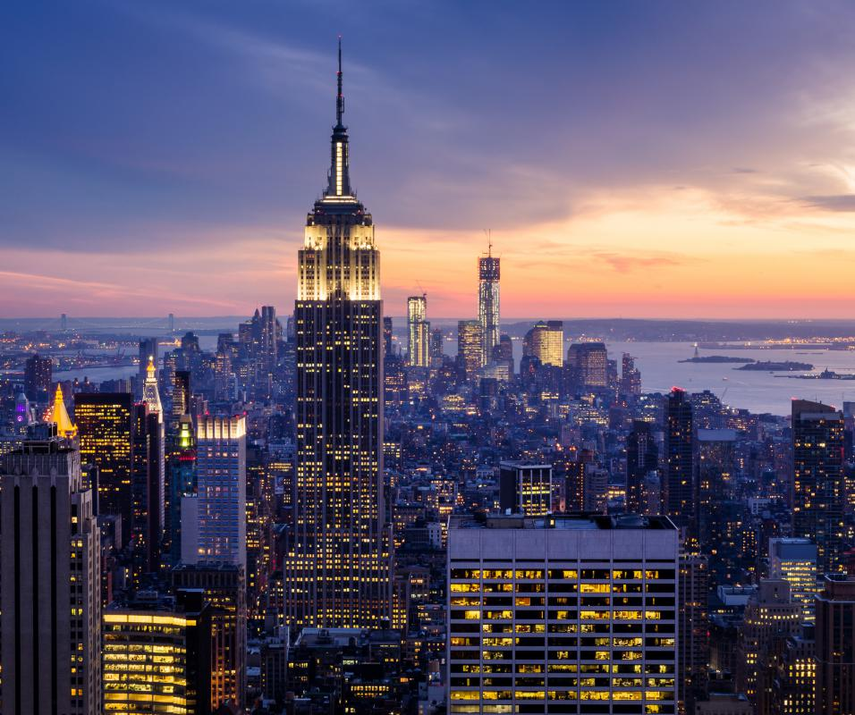 Manhattan is one of the five boroughs of New York City.