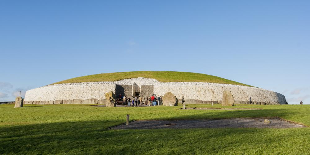 Newgrange is a prehistoric tomb in Ireland.