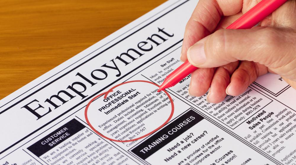 Help-wanted ads may be an ideal place to find employment as a sales support representative.