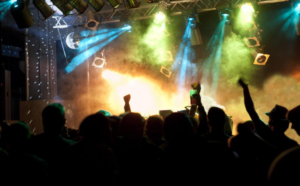 Black lights are often used in nightclubs.