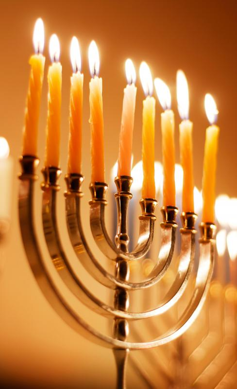 The lighting of nine menorah candles is a tradition on Hanukkah.