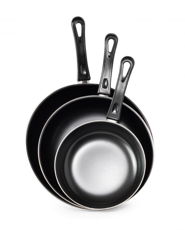 Some people prefer to use a non-stick pan when cooking scrambled eggs.