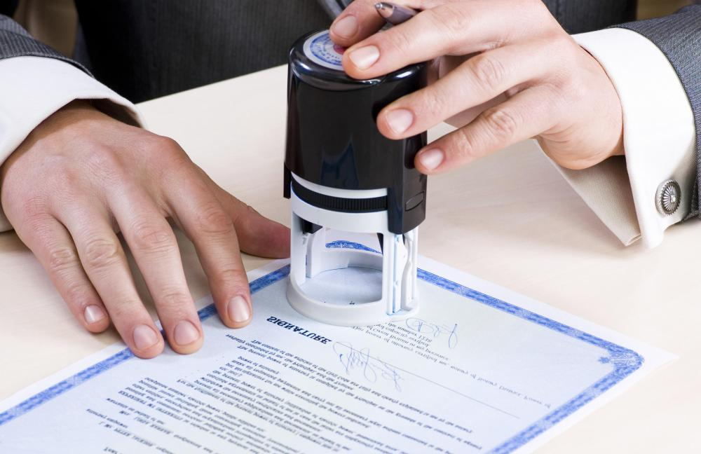 A power of attorney document is often signed by a notary public.