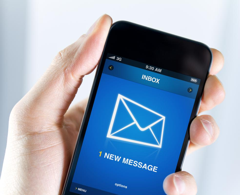 SMS downloads may be sent to a phone in the form of a text message.