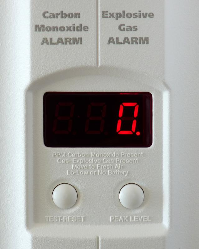 When buying a gas range, a carbon monoxide detector should be installed as a safety precaution.
