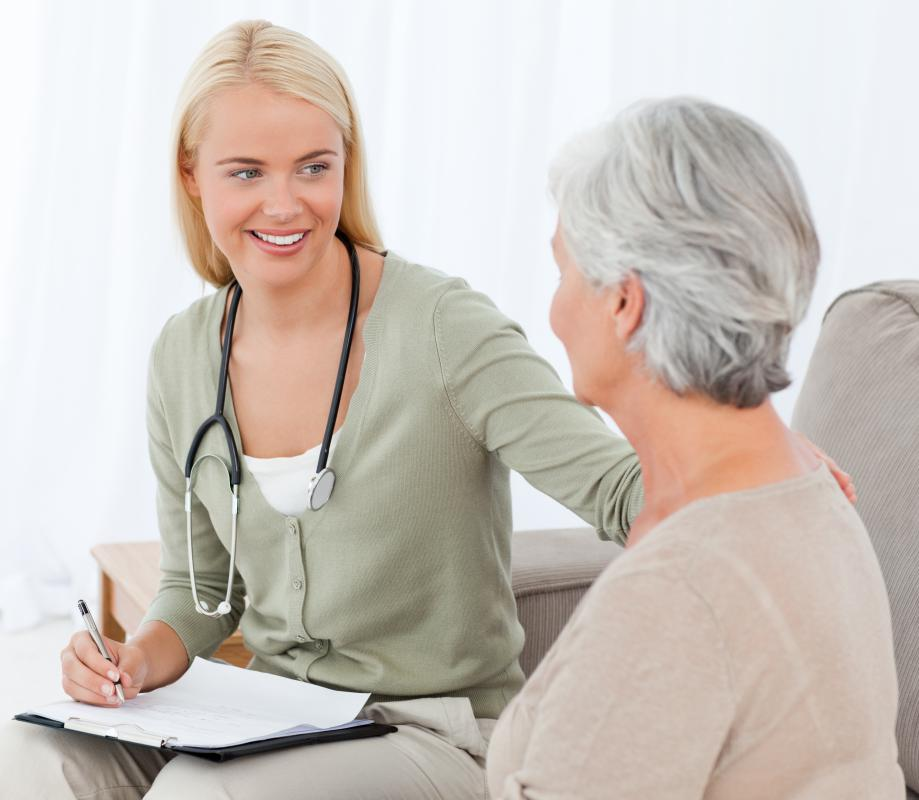 Geriatric physicians work with older patients.