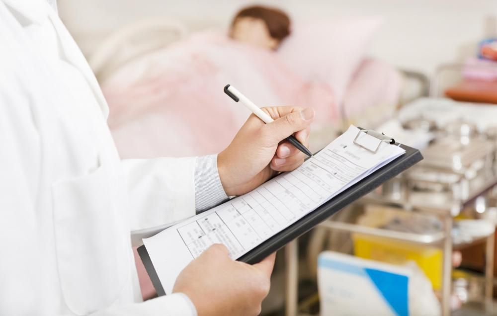 A nurse case manager may review the patient's record to ensure he is receiving the proper care.