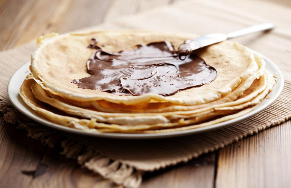 Nutella is a very popular crepe filling.