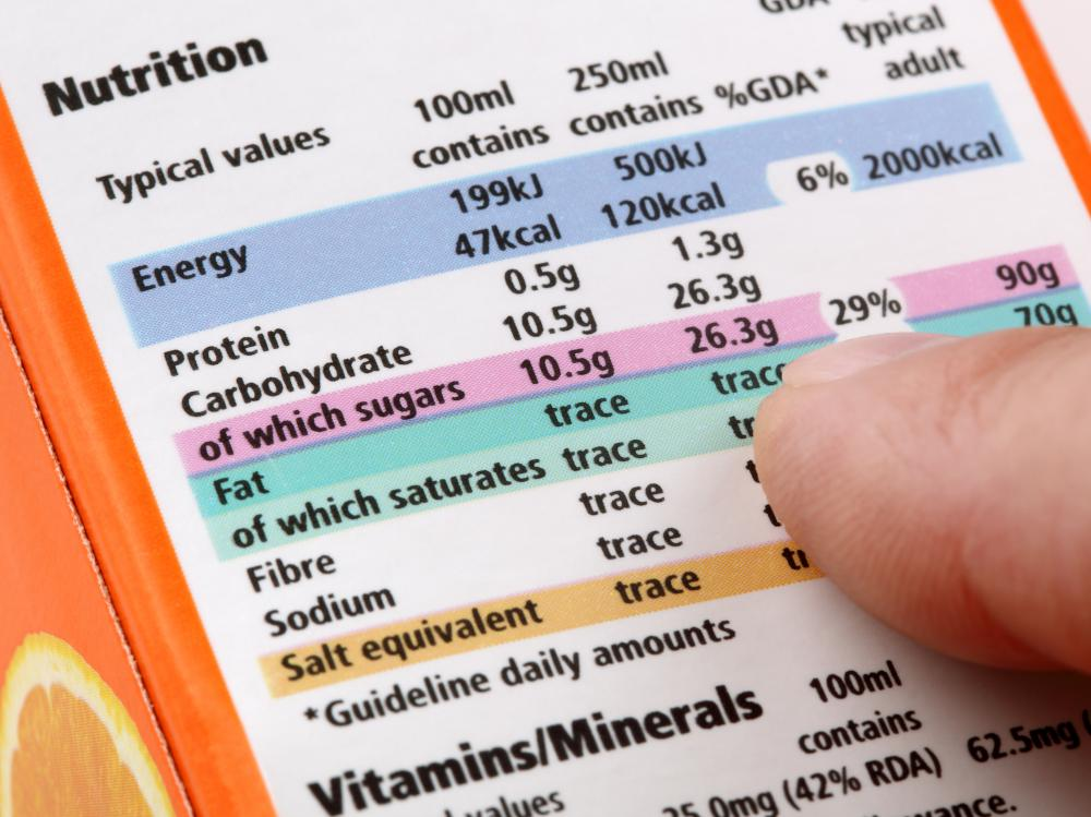 The U.S. government's labeling laws require that food manufacturers provide details on the amount of sodium in products.